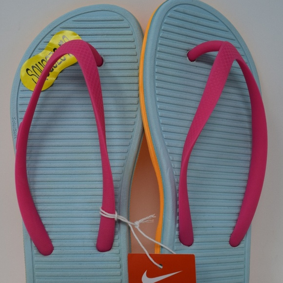 134bbbd69 NIKE Solarsoft Thong 2 555624-601 6 youth kids